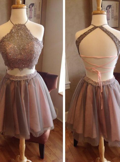 short prom dresses 2017,halter homecoming dress