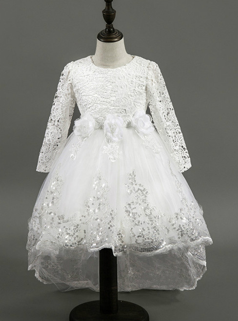 In Stock:Ship in 48 hours Ready To Ship Tulle Lace Long Sleeve Dress