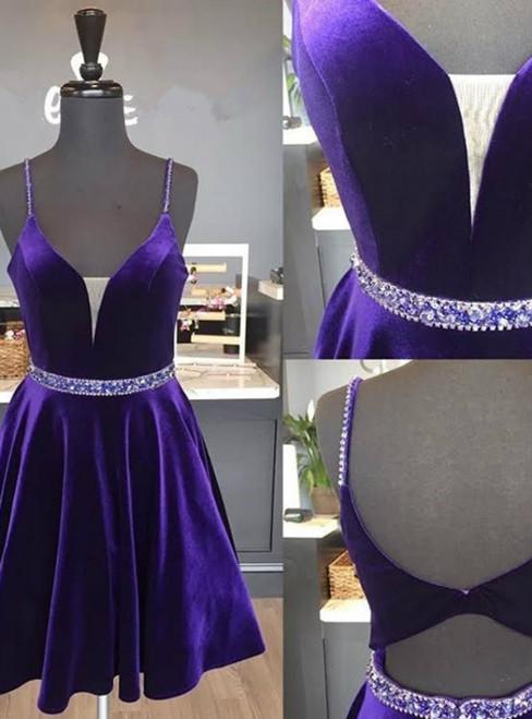 short graduation dress,purple cocktail dresses