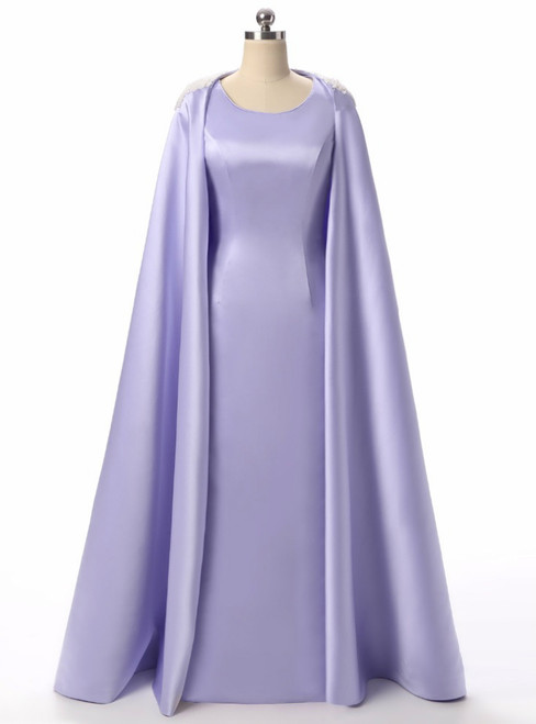 Lavender Satin Pearls Mermaid Mother Of The Bride Dresses