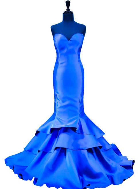 Mermaid Sweetheart Women Floor Length Royal Blue Prom Dress