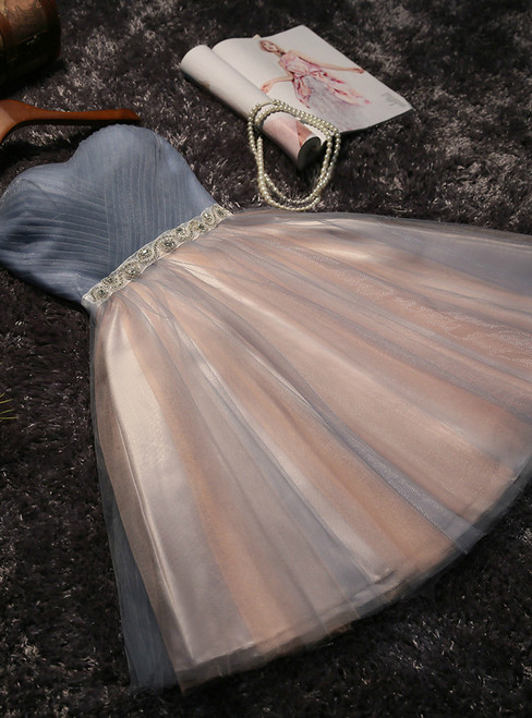 In Stock:Ship in 48 hours Tulle Sweetheart With Bow Homecoming Dress