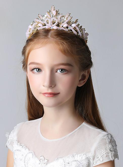 Crown Tiara Princess Girl Pink Rhinestone Crown