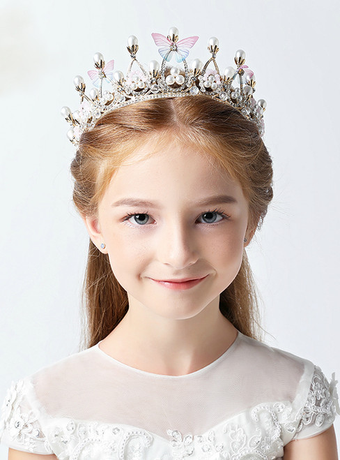 Children's Crown Tiara Princess Girl Crown Crystal Hair Accessories
