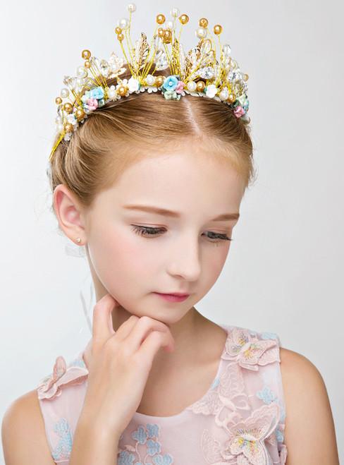 Children's Hair Accessories Crown Tiara Princess Hairband Flower Girl
