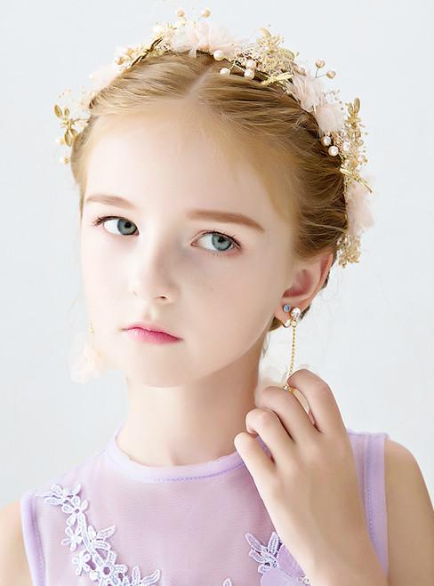 Pink Cute Headband Children's Garland Accessories Princess Flower Girl