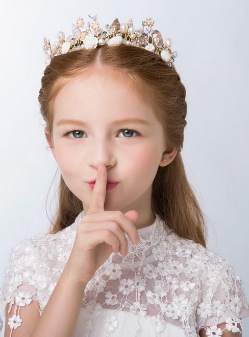 Cinderella Children's Crown Baroque Princess Crown Conch