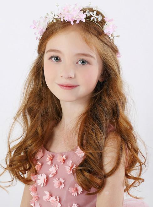 Garland Pink Hair Accessories Flower Girl Headdress Girl Hairband
