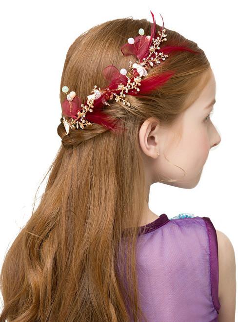 Cinderella Red Hair Accessories Girls' Headdress Garland For Children