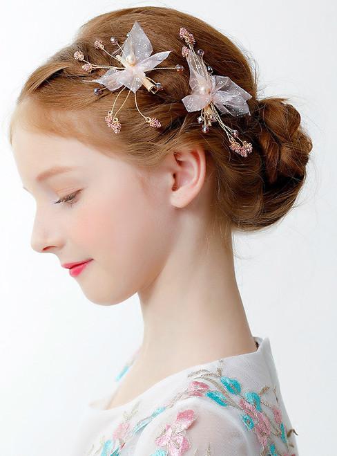 Children's 2 Piece Hair Princess Crown Clip Small Hair Accessories