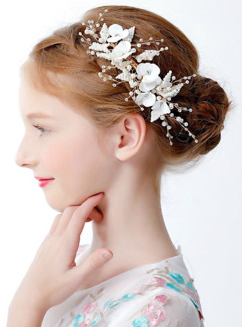 Girl Headdress Garland Flower Girl Headdress White Hair Accessories