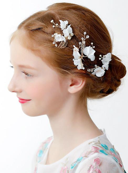 Flower Girl Accessories Princess Crown Hair Accessories White Edge Cli