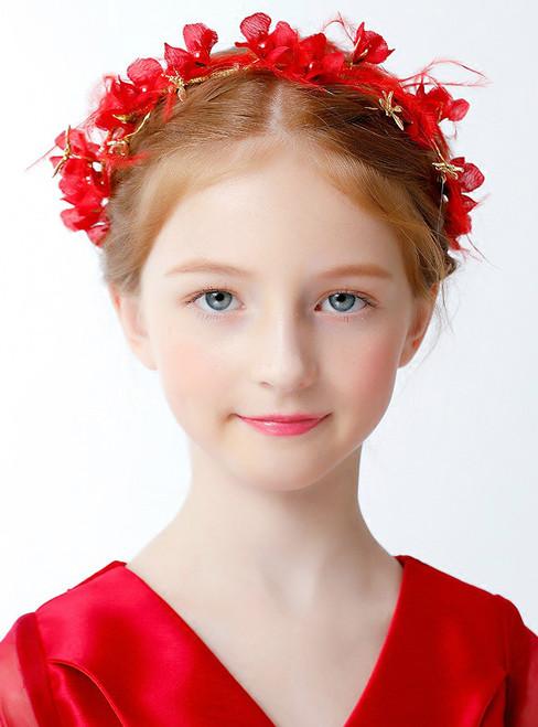 Children's Red Accessories Headdress Garland Headdress