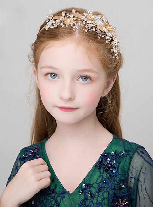 Girl Gold Flower Girls Accessories Hairpin Hairband