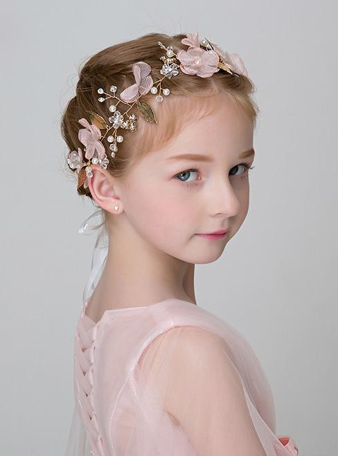 Girls' Pink Hairband Girls' Handmade Hair Accessories
