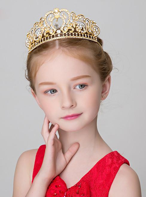 The Girl Gold Big Tiaras Princess Brown Hairband
