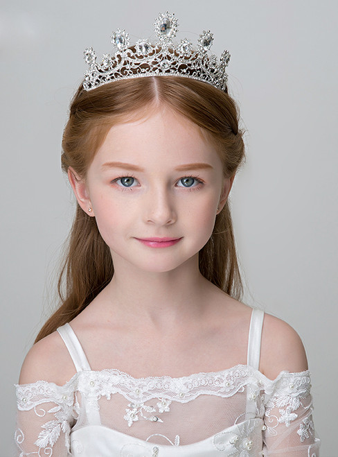 The Girl Princess Crown White Big Tiara Hairband