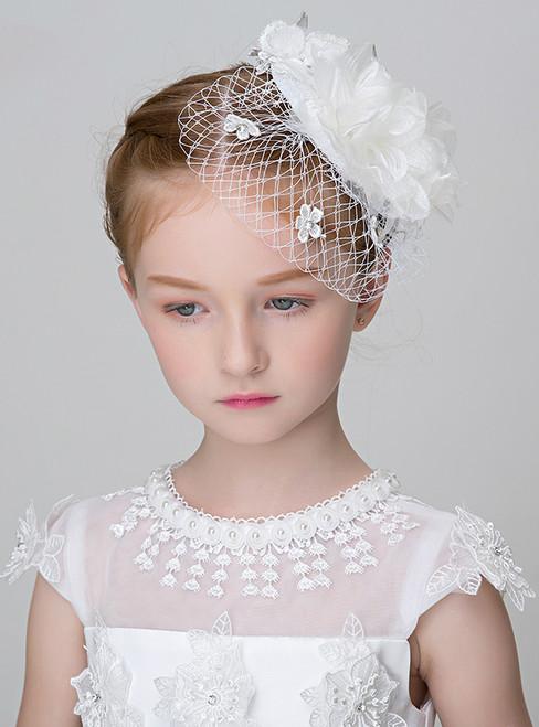 Children's Headdress White Lace Hat Accessory Headdress