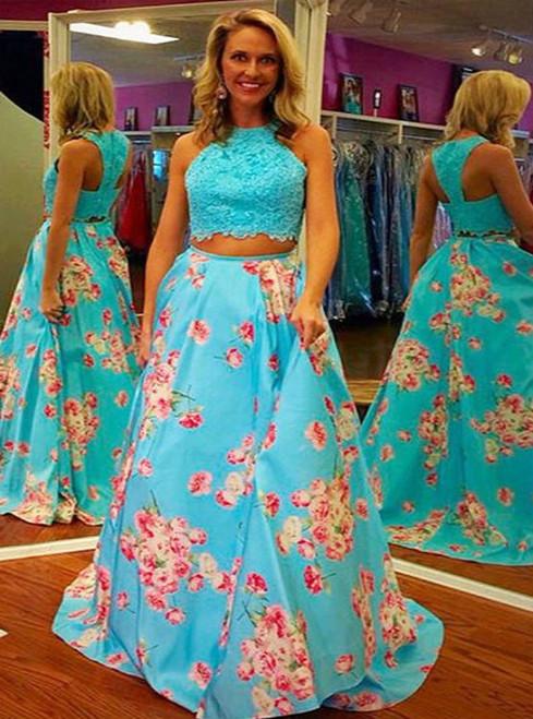 2 Piece Prom Dresses, A Line Prom Dress