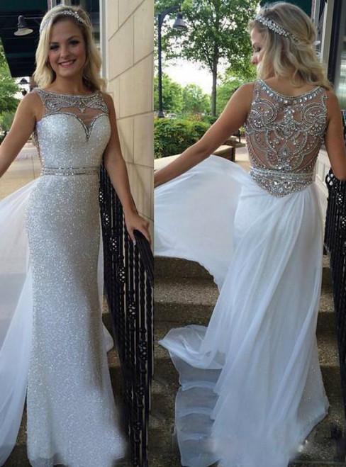 Elegant Evening Dress, Rhinestones Evening Dress