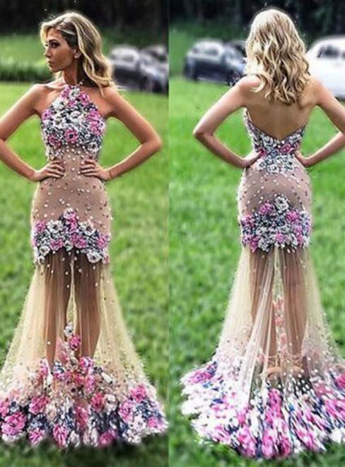 Affordable Evening Dress, Backless Evening Dress, Formal Party Dresses