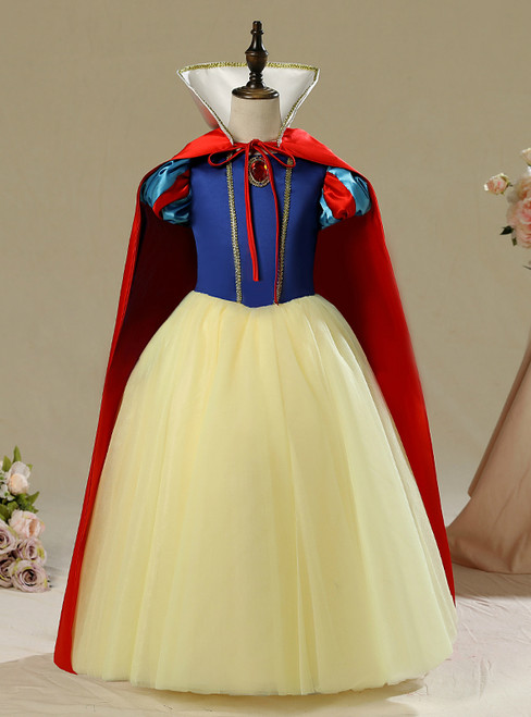 In Stock:Ship in 48 Hours Snow White Children's Disney Girl Frozen Dress