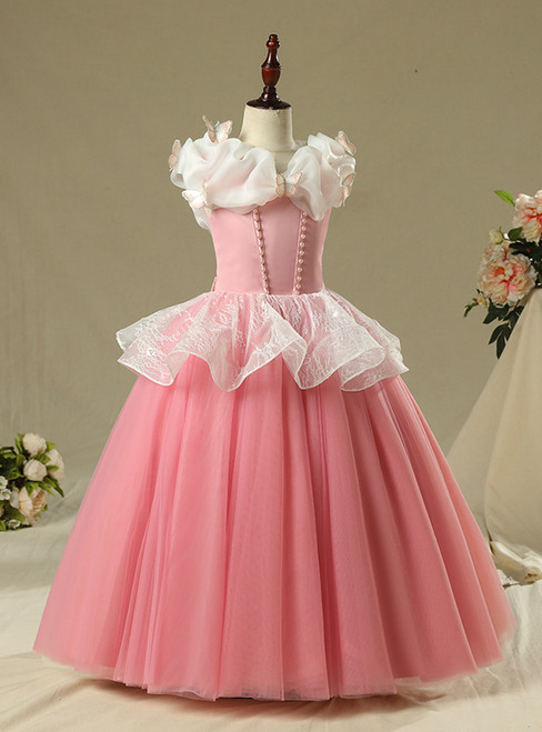 In Stock:Ship in 48 Hour Pink Tulle Princess Ai Luo Dress