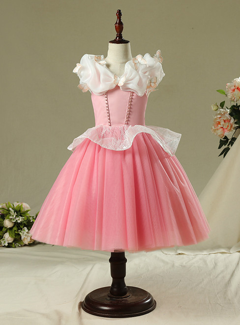 In Stock:Ship in 48 Hours Short Pink Tulle Princess Ai Luo skirt