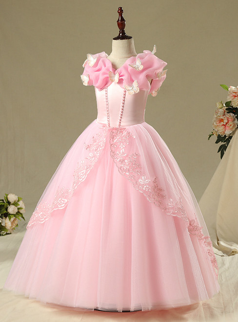 In Stock:Ship in 48 Hours Pink Tulle Cinderella dress Frozen