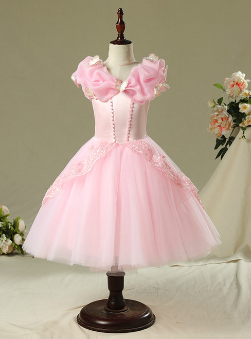 In Stock:Ship in 48 Hours Short Pink Tulle Cinderella dress Frozen