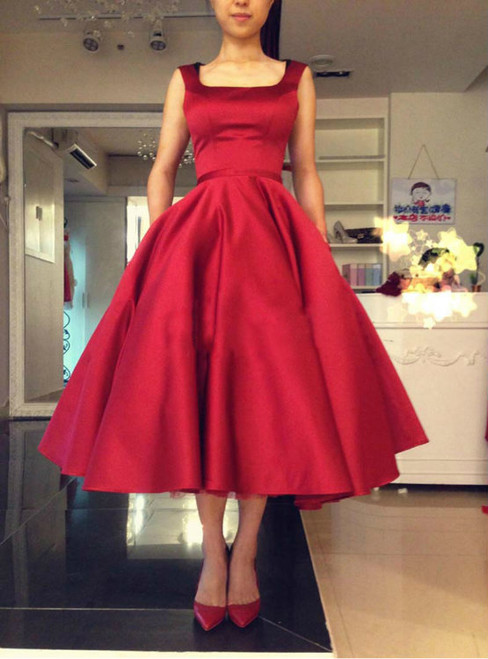 Vintage Dark Red Homecoming Dresses Backless Bowknot Satin