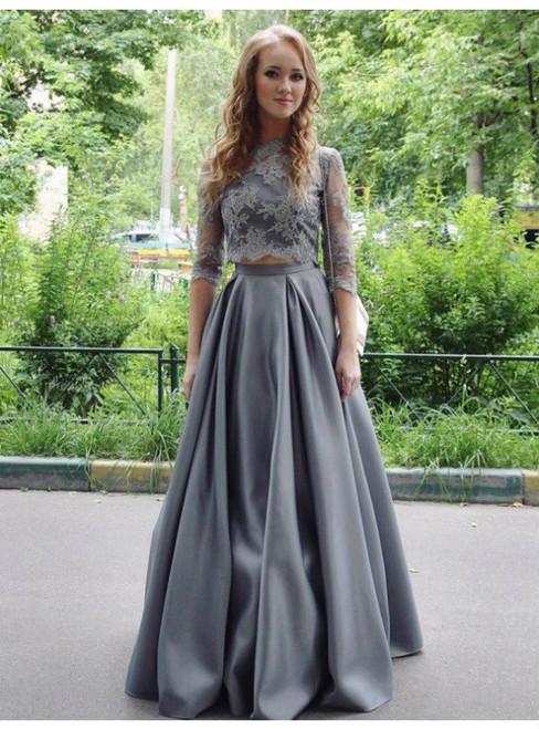 A Line Prom Dress Satin Prom Dress  Elegant Prom Dress  Floor Length