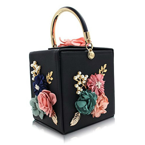 Women Clutches Flower Clutch Bag Box Clutch Purse Evening Handbag