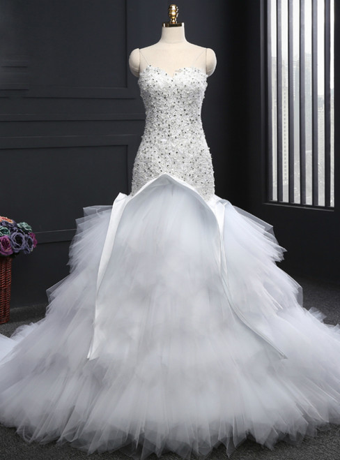 Mermaid Sweetheart Sleeveless Wedding Gowns Bridal Wedding Dress