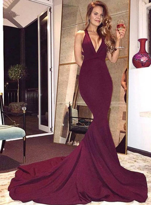 2017 Prom Dress  Mermaid Evening Dress Satin Prom Dress
