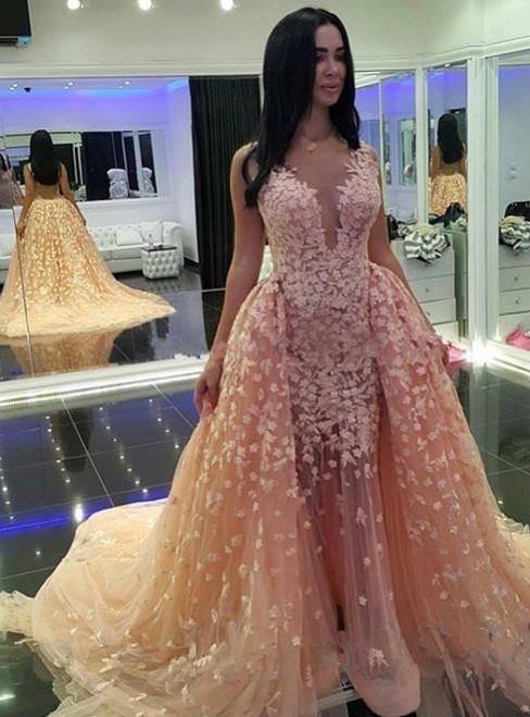 Prom Dresses V Neck Prom Dresses Appliques Prom Dresses