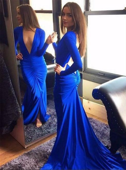 Deep V-Neck Prom Dress Long Prom Dresses Prom Dresses