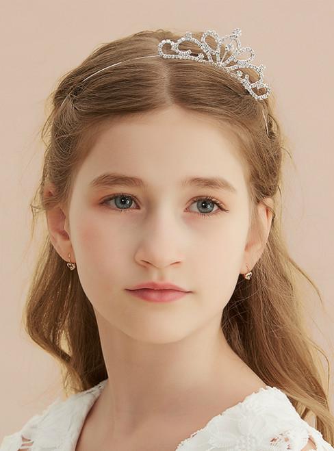Rhinestone Small Crown Flower Girl Hair Accessories