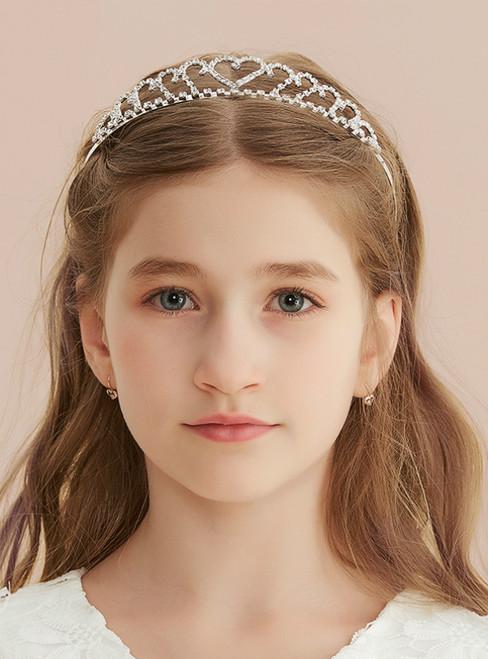 Love Headband Crown With Hair Comb Flower Crown
