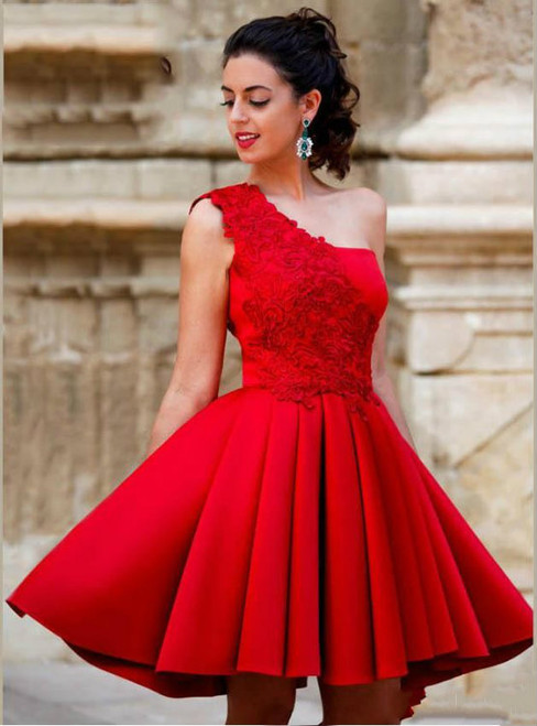 Cheap homecoming dresses 2017 New Arrival Red Mini Short A Line Homecoming Dresses