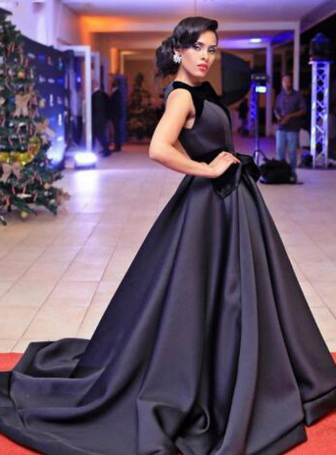 Cheap prom dresses 2017 Black Ball Gown Evening Dresses 2017