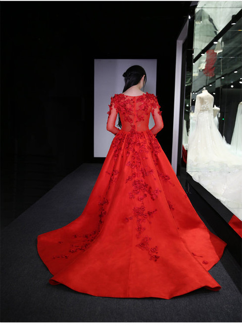 Cheap prom dresses 2017 New Long Sleeve ball gowns