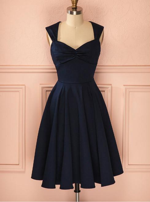 Cheap Short Blue Chiffon homecoming dresses 2017