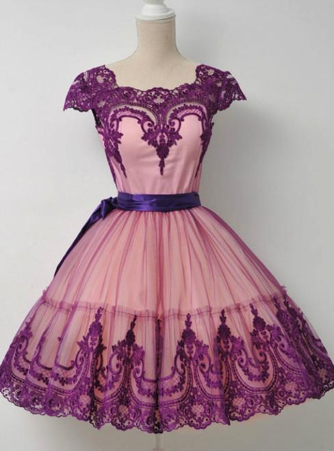 Cheap homecoming dresses 2017 Short  purple Homecoming Dress