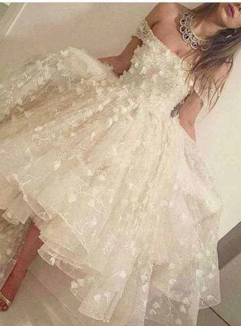 Cheap homecoming dresses 2017 Princess Off Shoulder Long Sleeve Party Dresses