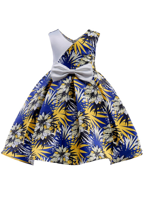 In Stock:Ship in 48 Hours Blue Print Cheap Princess Dresses