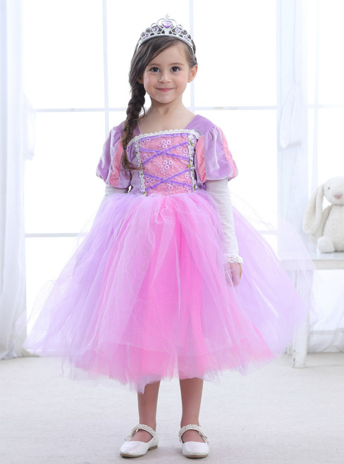 In Stock:Ship in 48 Hours Light Purple Tulle Knee Length Princess Dress