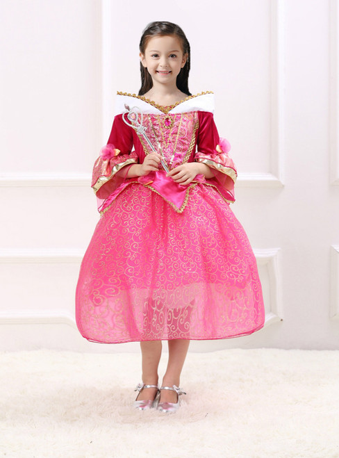 In Stock:Ship in 48 Hours Fuchsia Tulle Sleeping Beauty Princess Ai Luo Dress