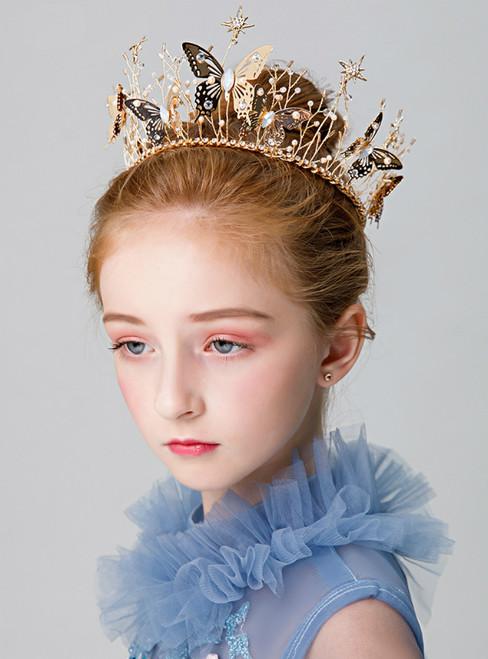 Girl's Headdress Butterfly Flower Princess Hairband Wreath