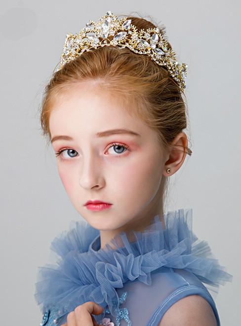 Girls Hair Accessories Head Flower Hoop Jewelry Princess Crown